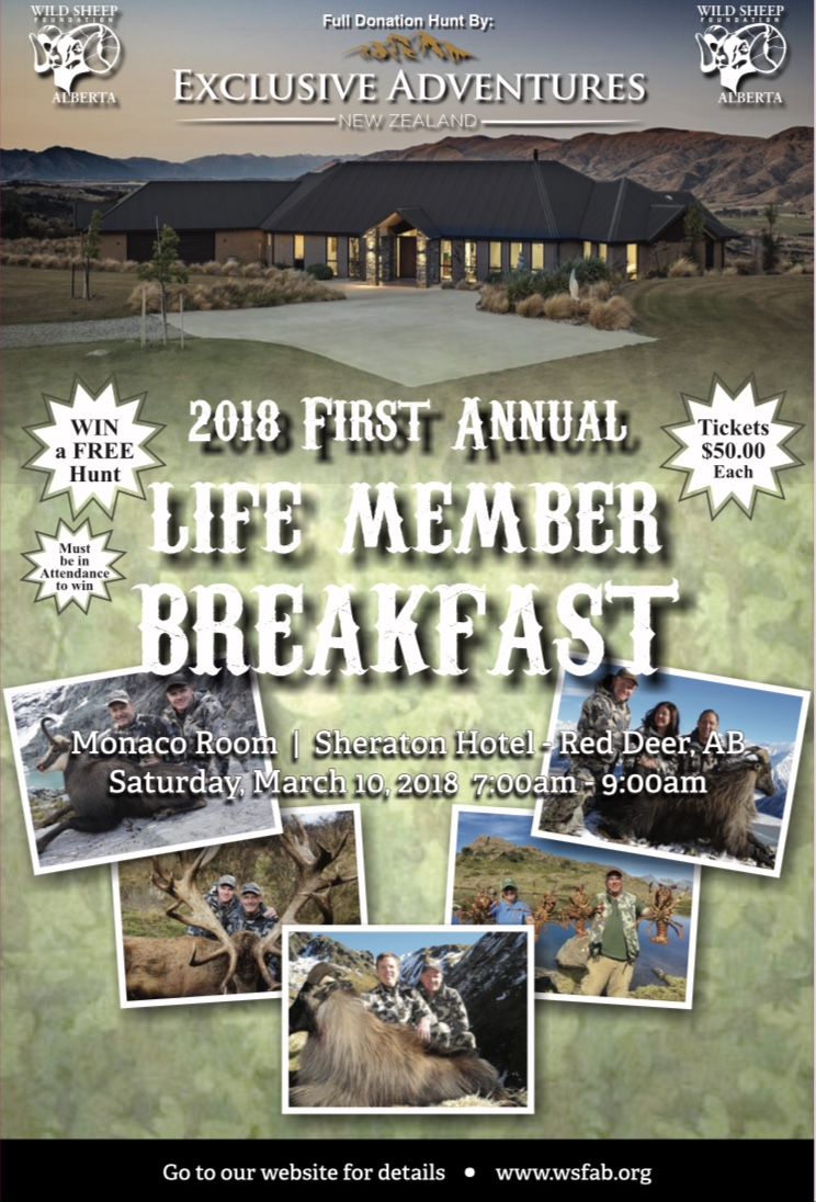 2018 First Annual WSFA Life Member Breakfast Poster